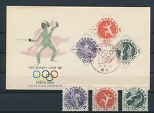LM81904 Japan 1964 Tokyo olympics basketball FDC used