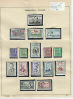 France 1960 MM+Used Stamps On 2 Pages  Ref: R6497