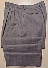 ZANELLA Pants MENS Gray PLEATED Nordstrom WOOL Made IN Italy SZ Light SIZE 34 27