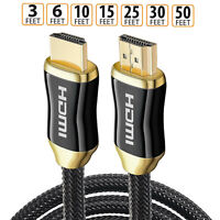 In Wall rated HDMI Cable 8K Ultra-HD UHD 8K HDCP 2.2 Cable eARC & ethernet Lot