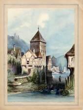 Bacharach - Aquarell um 1850