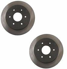Set Of 2 Rear Disc Brake Rotors 40538093 OpParts for Infiniti QX56 Nissan Titan