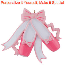 Pink Ballet Slippers Personalized Ornament Christmas Gift DO-IT-YOURSELF