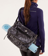 lululemon Women's Blazer Print Yoga Moto Work Out Laptop Messenger Bag
