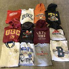 Vintage Wholesale 12 Sweatshirt Hoodie Bundle Lot Sports Athletic Adidas 90s 00s