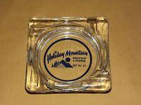 VINTAGE CIGARETTES HOLIDAY MOUNTAIN MOTOR LODGE ROCK HILL NY GLASS ASHTRAY