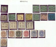 Sammlung Braunschweig mit 22 Werte/n auf Steckblatt mit  TOP LOT KOMPLETT RARE