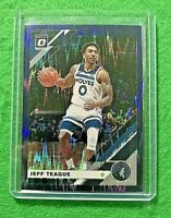 JEFF TEAGUE OPTIC PRIZM CARD JERSEY#0 TIMBERWOLVES 2019-20 Panini Donruss Optic