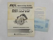 """Skil Model 551 5 1/2"""" HD Trim Saw Operating Guide  Only"""