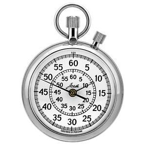 Stopwatch Mechanical Flyback Timekeeper - Agat - 1/5 Sec. ,60 Min, Russia