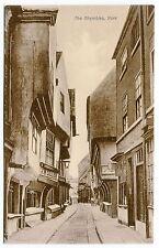 1926 Vintage Postcard: STREET SCENE (THE SHAMBLES, YORK)