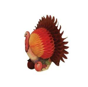 "Harvest Happy Thanksgiving 6"" Turkey Honeycomb Centerpiece"