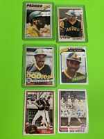 🔥1977-82🔥NEW YORK YANKEES DAVE WINFIELD - VINTAGE Topps Baseball Card LOT X6
