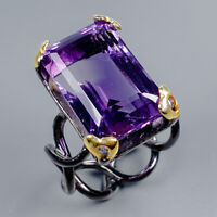 Amethyst Ring Silver 925 Sterling 19ct+ Size 8 /R128097
