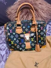 Louis-vuitton black multi color speedy