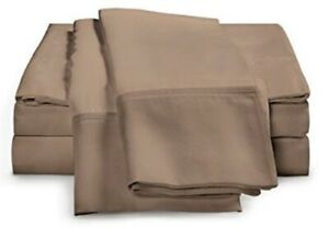 (2) Luxor Style 100% Egyptian Cotton Pillowcases 400TC ~ Taupe ~ Standard *NEW*