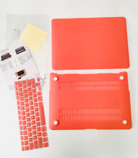 """MOSISO MacBook Air 13"""" Case Cover Orange Coral, for Models A1369/A1466 Bundle"""