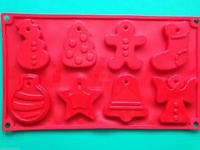 Stampo in silicone forme di Natale per Albero di Natale decorazioni biscotti al cioccolato