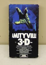Amityville 3-D Rare & OOP Horror Movie Orion Video Treasures Release VHS 1989