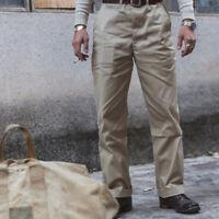 Bronson 14oz Officer Chino Import Fabric 1950s Cotton Twill Pants Khaki Trousers