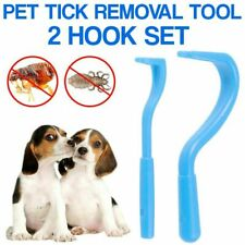Tick Remover Removal Tool 2 Hook Pet Cat Dog Rabbit Human UK Tick Treatment Set