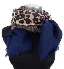 Leopard Damenschal braun beige blau Ella Jonte breiter Leo Schal wärmend new in
