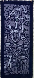 "Many Faces ~ EXTRA LONG Brand New (28"" x 65"") Batik Wall Hanging"