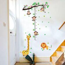 Messlatte Dschungel Löwe Giraffe Affe Kinderzimmer Wandtattoo Wandbild Kind