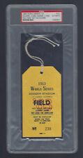 VINTAGE 1963 WORLD SERIES NY YANKEES @ LA DODGERS PRESS PASS TICKET STUB PSA