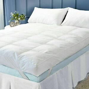 "Microfiber Mattress Topper 4"" Inch Deep Luxury Hotel Quality Soft All Sizes 10cm"