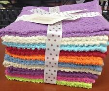 """DryComfort Washcloths Multi-Color 100% Cotton (10 in a pack) 12""""x12"""""""
