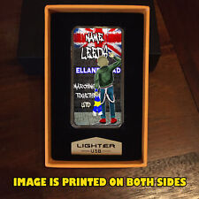 Personalised   LEEDS UNITED USB RECHARGEABLE LIGHTER GIFT FOOTBALL FANS