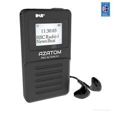 Azatom DAB+ Radio FM Portable Personal Headphone Rechargeable Battery Action A1