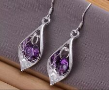 925 Sterling Silver Amethyst Earrings Women's Jewellery Aussie Ladies Purple
