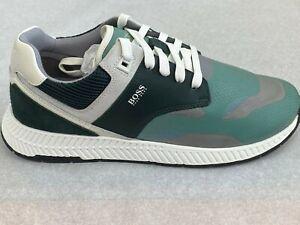 BOSS HUGO BOSS Men's Sneakers Athleisure Titanium Run Trmx 341 Green