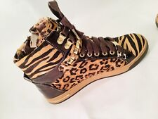 ✅ MICHAEL Michael Kors Glam Animal Leopard-Print Hi-Top Sneaker Women's Size 7
