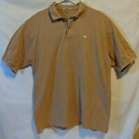 Mens BURBERRY LONDON  short sleeve polo shirt size XXL Brown