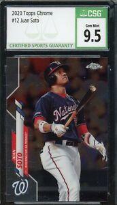 Juan Soto 2020 Topps Chrome Baseball Card #12 Graded CSG 9.5