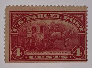 Travelstamps:1912-13 US Stamp Scott # Q4 Rural Carrier Parcel Post 4 cents MNG