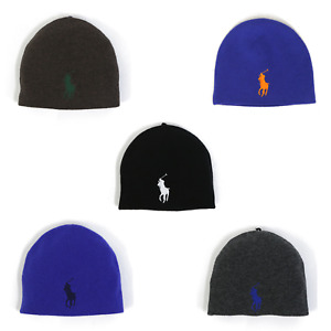 Polo Ralph Lauren Big Pony Wool Biene Watch Cap Stocking Cap Hat - 5 colors -