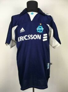 OLYMPIQUE MARSEILLE 1999/2000 AWAY FOOTBALL SHIRT SOCCER JERSEY CHEMISE FRANCE