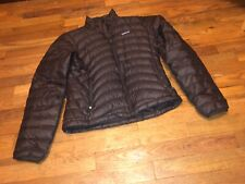 $229.99 Patagonia Down Sweater Jacket Women Dark Brown Size XS
