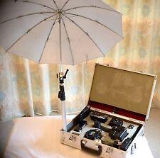 Sunpak flashstudio portable, coque en aluminium complet, vintage, Minolta Très bon état
