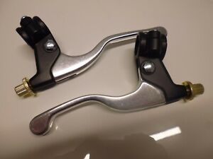 classic japanese universal motorcycle  brake and clutch levers and brackets