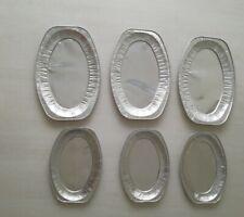 6 Servierplatten oval 44 x 30 / 35 x 24 Alu Grillschale Buffet Alu groß klein