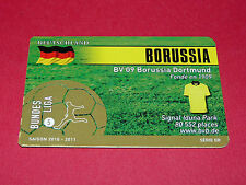 RARE FOOTBALL CARD FOOT2PASS 2010-2011 BORUSSIA DORTMUND BVB FUSSBALL BUNDESLIGA