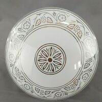 """Vintage 10""""W Glass Disk Ceiling Shade Light Diffuser Frosted Design on Clear"""