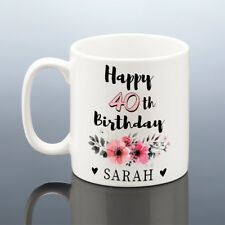 40th BIRTHDAY MUG 1978 Personalised Cup 40 Gift for Her Women Mum Aunt Friend