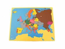 New Montessori Geography Family Set- Small Board Puzzle Map of Europe