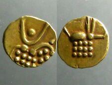 GOLD FANAM OF VIRA RAYA (RAJAHS OF COCHIN)______Stylized Lion & Stylize Boar